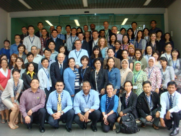 Symposium attendees in Singapore